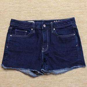 Gap Slim Cut Off Dark Wash Jean Shorts